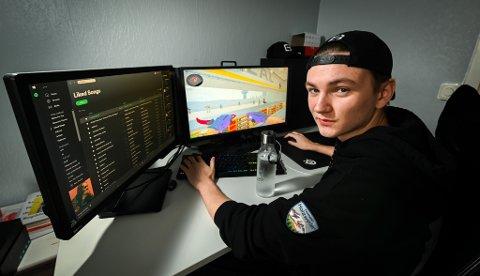Even Holand (19) er en av de første i Norge som mottar en privat sponsorkontrakt for å game.