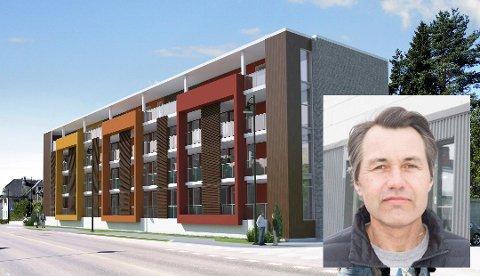 UTBYGGING: Slik kan Sindre Laftons nye boligprosjektet i Hønengata 40-44 bli. Nå har Fylkesmannen avvist klagene fra blant annet naboene.