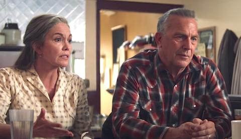 LET HIM GO: Det er ingen hvemsomhelst som dukker opp i hovedrollene heller; de gamle kinoheltene Kevin Costner og Diane Lane.