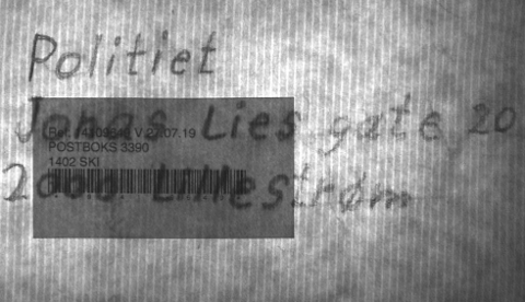 TIL LILLESTRØM: Pakken som havnet i Ski, var i utgangspunktet adressert til politihuset i Lillestrøm. (Foto: Politiet)