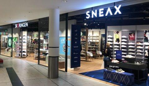 SHOP-IN-SHOP: Det nye Sneax-konseptet til Skoringen åpner både på Metro og Strømmen storsenter torsdag.