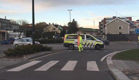 POLITI: Politiet tok turen for å forsøke å løse opp i de trafikale problemene ved Tempokrysset.
