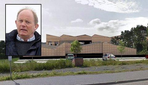 SYKEHJEM: Her er det planlagte sykehjemmet på Haukerød. Einar A. Sissener er innfelt på bildet. Illustrasjon: Planformum Arkitekter