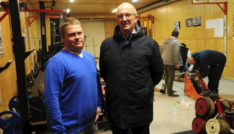 NM: Rosjef Thomas Gundersen (t.v.) og leder Kai Holm i Sarpsborg Roklubb håper det kommer nybakte olympiske mestere til Sarpsborg under norgesmesterskapet i september neste år. Foto: Pål A. Karlsen
