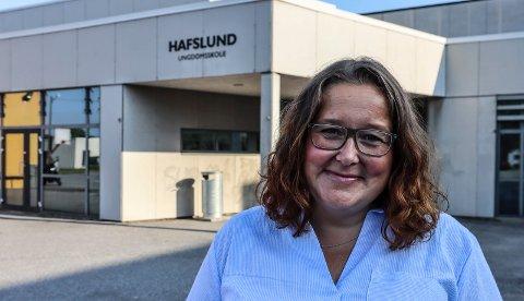NY REKTOR PÅ HAFSLUND: Silje Krosby-Sæther ble i sommer ansatt som  ny rektor ved Hafslund ungdomsskole.