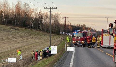Ifølge politiet var det snakk om en front-mot-front ulykke.