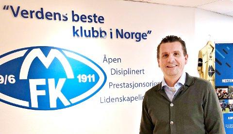 MFK-direktør: Ole Erik Stavrum har hatt hektiske dager etter at han 1. januar begynte i jobben som direktør i MFK. Foto: Trond Hustad, Romsdals Budstikke