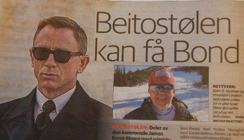 "Ny Bond-film: Er Beitostølen aktuell opptaksstad for scener i den komande Bond-Filmen ""B25""?"