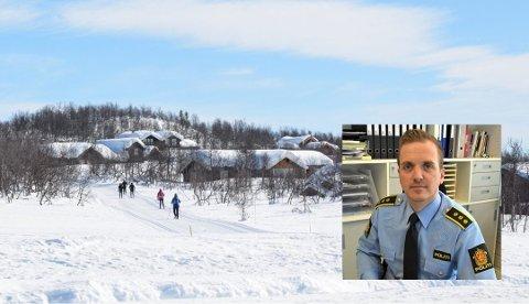 PATRULJERER: Politiet kjører patrulje i hyttefeltene. Og snakker med folk de møter, forteller Tessem.