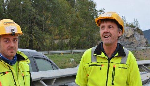 E16 TURTNES–ØYE: Kenneth Dokken (t.v.) og faren Jan Dokken styrer entreprenørselskapet Brødrene Dokken AS.