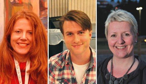 PÅJOBBJAKT:Tre av søkerne til stillinga som kulturkonsulent; f.v. Lill Heidi Opsahl, David Grant og Tove Reinfjord.