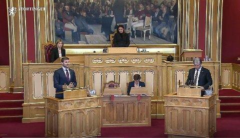 PÅ TINGET: Nils Kristen Sandtrøen (Ap) har tatt opp regjeringens forvaltning av rovviltforliket tidligere i år. Nå spør han ministeren igjen. Svaret kommer over sommeren.