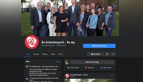 NY SIDE: Ås Arbeiderparti fikk siden sin tatt ned av Facebook. Nå har de oppretett en ny. - Vi fikk aldri noen god begrunnelse fra Facebook, sier Edvin Søvik (Ap).