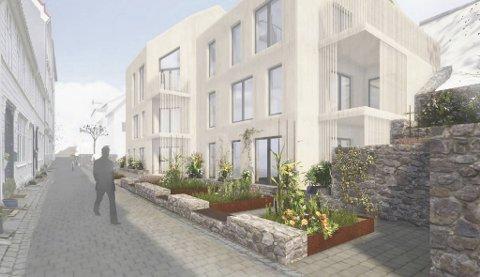 Slik har arkitektene tegnet boligene som skaper splid på Nordnes.