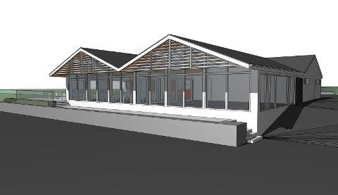 For Frode Steine er det viktig at en utvidelse av restaurantbygget skal føre til at det framstår mer åpent for camping-, båt- og bobilgjester og andre. Derfor de store vinduene i front.