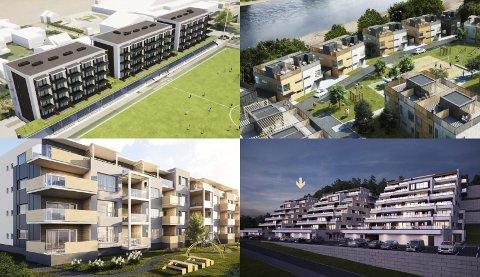 NYE TOMTER: Både Nedre- og Øvre Eiker har hatt spennende byggeprosjekter. Det kan se ut til at folk står i kø for å få fatt i en av de nye byggene.