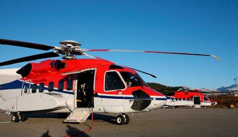CHC sine helikopter har base i Florø og fraktar arbeidarar ut til olje- og gassfelta i nærleiken.