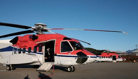 Helikopter frå CHC Helikopterservice i Florø.