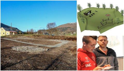 NATURMØTEPLASS: Ivar Varpe og dugnadsgjengen i Dalen er snart klar med den flotte naturmøteplassen i bygda.