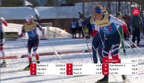 I TET: Ved veksling til 4. etappe låg Torstein Bu 0,2 sekund etter leiaren.