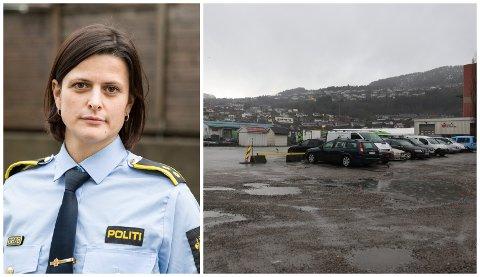 SØKER VITNE: Stine Mari Vårdal ved Førde lensmannskontor søker vitne til hendinga som skjedde ved Øyrane måndag ettermiddag.