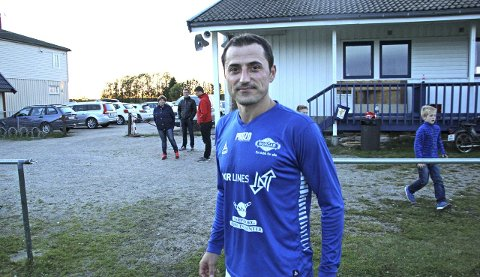 – MÅ BLI BEDRE OFFENSIVT: Spillende Borgar-trener Berat Jusufi er fornøyd med vårsesongen, men ønsker å bedre det offensive til høsten.