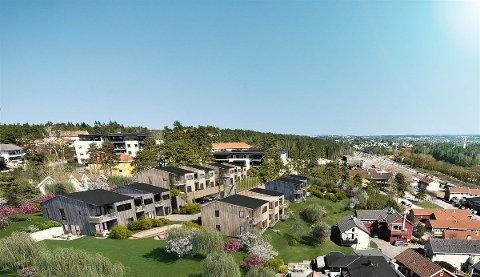 NYTT: Onsdag kommer 12 leiligheter i første byggetrinn i Smedens  hage for salg. Prosjektet ligger rett på nedsiden av Åsebråten Park.