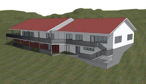 Klubbhuset til Kråkerøy vil bli vesentlig større dersom årsmøtet sier ja til dette tilbygget (til høyre). Nye garderober, møteplasser og toaletter er noe av det idrettslaget ønsker å bygge.