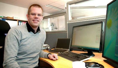 SATSER PÅ DATALAGRING: Håvard Lillebo er mest kjent i Narvik som gründeren bak Innotech Solar. Han re også kåret til Årets Narviking og Årets unge leder i Norge på nettstedet E24.