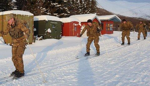 SKIFERDIGHETER: Hege Nilssen synes det var varierte skiferdigheter til dem som øvet seg i Bjerkvik.