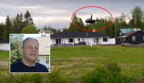 FORBANNET: Nabo Guy Kenny har forsøkt alle tenkelige måter for å få en slutt på helikopterflygingen til naboen, Ove vik.