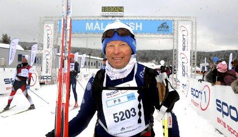 Ole Bakke fra Rudsbygd sikret seg sitt merke nummer 40 i årets Birkebeinerrenn. Foto: Hans Bjørner Doseth