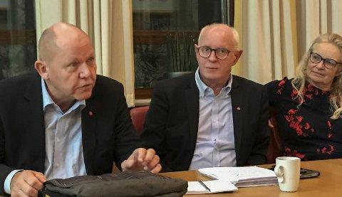 Magne Rommetveit (i midten), stortingsrepresentant for Arbeidarpartiet. Foto: Privat