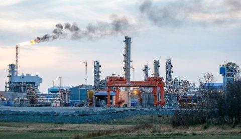 KÅRSTØ: Anlegget har Norges nest største CO2-utslipp på land.