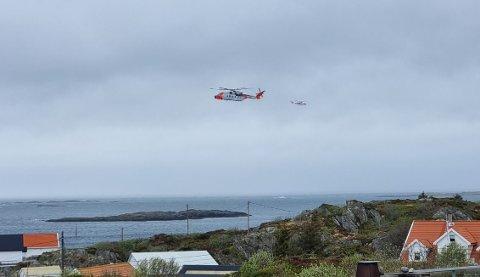 DRIVENDE KAJAKK: Mandag ettermiddag fikk HRS melding om en drivende kajakk i Sævelandsvik  på Karmøy.