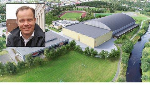 NY HALL: Det kommer ny videregående skole på Kippermoen og i den forbindelse også en idrettshall. Om det blir storhall er mer usikkert.