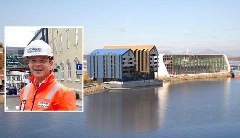 HOTELL: Når det står ferdig vil det bestå av 158 rom. 129 standard rom, 24 superior rom og fem suiter, sier distriktssjef Rune Stenberg.