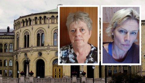 LØVEBAKKEN: Bente Fjellheim (t.v.) fra Kragerø og Anne Kjendsheim fra Drangedal er på nominasjonskomiteens valgliste.