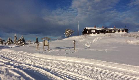En flaggstang på Strutåsen har skapt bekymring blant skigåere.