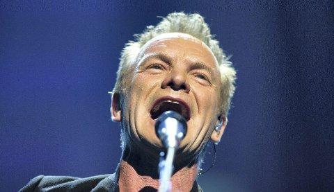 VERDENSSTJERNE: Artisten Sting fra Storbritannia er klar for Kirketorget.