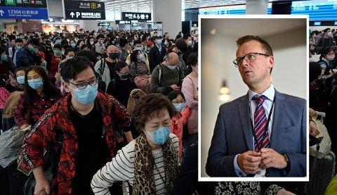 Ronny Lie, kommunikasjonsdirektør i Kongsberg Gruppen, opplyser at konsernet har innført forholdsregler og gir anbefalinger på grunn av det dødelige coronaviruset som brer seg i Kina.
