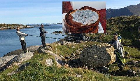 Lars Åge Larsen, Lisa Rokkan, Torstein Trymm og Philip Curry fant mye skrot langs kysten.
