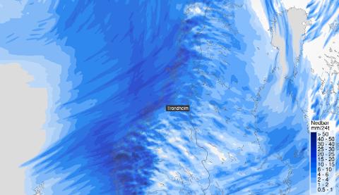 Dårlig nytt: Dette viser at vi går en kald og våt uke i vente.