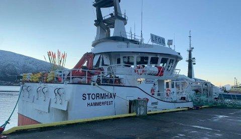 NEGATIVT: Fiskebåten håper på å få komme seg ut på havet allerede tirsdag kveld.