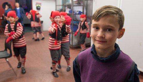 Sceneklar: Robin Øversveen fra Gjøvik er klar for Putti Plutti Pott i Fjellhallen.