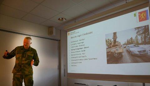 TRAFIKKEN: Distriktssjef i HV 05, Tore Ketil Stårvik, orienterte om blant annet trafikken som blir den kanskje største utfordringen i Solør.