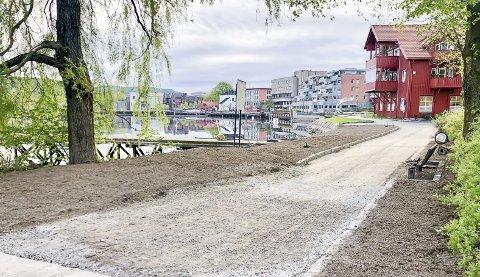 Strandpromenaden kan nå spaseres eller sykles i sin helhet fra Down Town til Kafé K.
