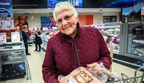 Gudrun Søreng har sikret seg ribbe til jul.