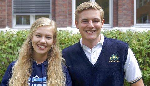 Lærerik opplevelse: I møte med ny kultur og et språk de kanskje ikke mestret fullkomment, har Maria Pahlm (18) og Philip Støyten (18) fått mange nye og spennende erfaringer.