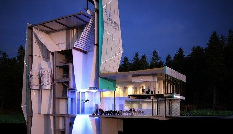 Skandinavias største vindtunnel bygges av Møller Eiendom. Arkitekten bak er Nordic- Office of Architecture, Eskild Andersen. ILLUSTRASJON: MØLLER EIENDOM